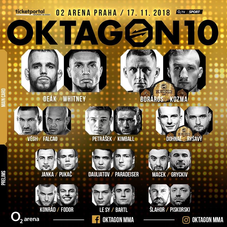 Oktagon 10 a našlapaná fight card